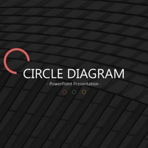 圆形主题PPT模板fm@公众号 黑白间设计