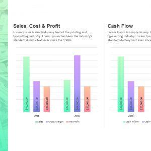 创意图表PPT模板fm@公众号 黑白间设计